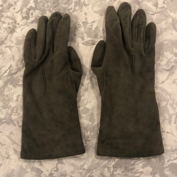Coach green suede gloves size 7 1/2